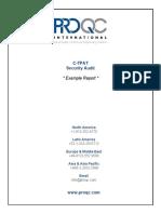 ProQC ExampleReport CTPAT Security Audit