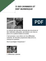 Collecte Des Donnees