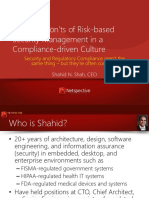 Do s and Don Ts of Risk-based Security Management in a Compliance