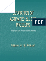 Separation of Activated Sludge Problems