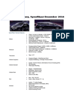 Spesifikasi Honda Odyssey 2016