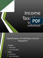 Income Taxation Individuals