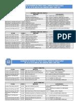 Horarios Quimico Clinico Parcial 3