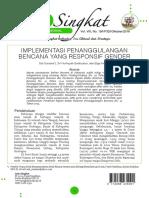 19 Implementasi Penanggulangan Bencana Responsif Gender