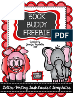 Friendly Letter Templates and Task Cards Book Buddy Freebie