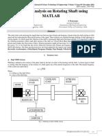 Vibration Analysis on Rotating Shaft using Matlab