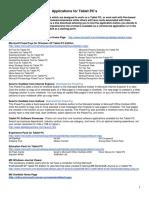 TabletPC Applications
