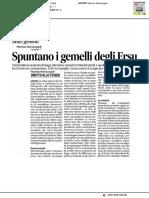 Spuntano i gemelli dell'Ersu - Il Corriere Adriatico dell'11 gennaio 2017