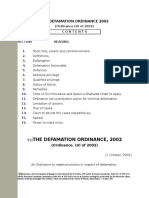 Defamation Ordinance 2002