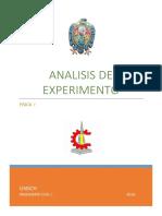 Análisis Del Experimento - Laboratorio de Física