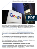 7 enlaces para comprobar qué información guarda Google