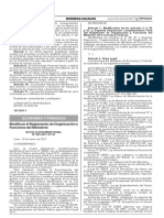 Modifican el Reglamento de Organización y Funciones del Ministerio