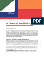 A Farewell to Giedroyc - K Pelczynska-Nalecz - Batory Foundation