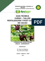 Fertilizacion y Post Cosecha Del Cacao