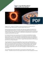 Solar Quake Press Release