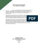 Auditing Manual Volume I