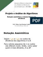 PAA - Aula5 - Notacao Assintotica