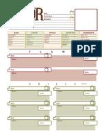 Valor Character Sheet