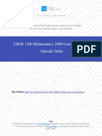 Mathematics 2009 Unsolved Paper Outside Delhi.pdf