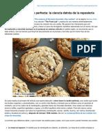 Cómo Hacer La Cookie Perfecta La Ciencia Detrás de La Repostería