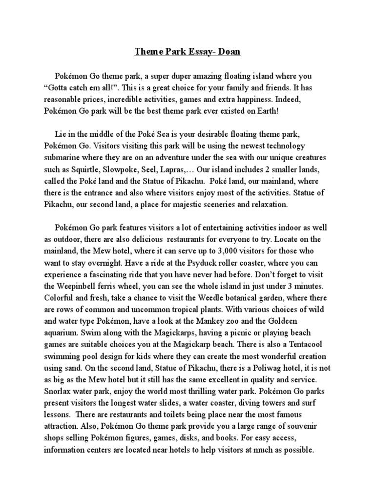 Fun at the amusement park essay buy shakespeare studies dissertation hypothesis