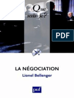 La Negociation - Bellenger Lionel