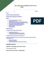 Informe Hinchey Sobre Las Actividades de La CIA en Chile
