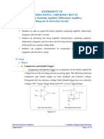 [Experiment 7] Operational Amplifier - Basic Op-Amp Circuit (Comparator, Summing, Integrators, and Differentiators).pdf