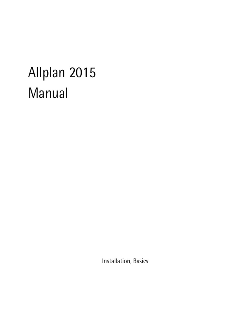 Allplan 2015 Manual   Installation (Computer Programs)   Computer File