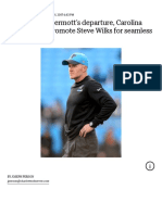 nfl   carolina panthers   what will sean mcdermotts departure for buffalo mean for defensive staff    the charlotte observer