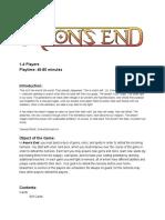 Aeons End Kickstarter Rulebook