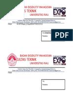 Format Amplop E-expo