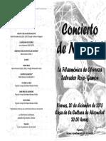 Programa Concierto Navidad Alconchel 2013