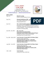 avital aharon - resume-2015