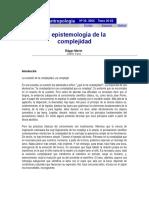 Morin, Epistemologia de La Complejidad
