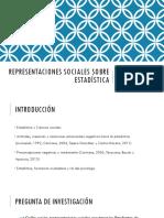 Representaciones Sociales Sobre Estadística