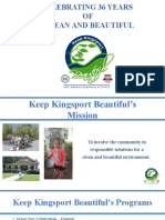 Keep Kingsport Beautiful - 2016 Report