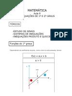 GEO Inequações de 1° e 2° graus