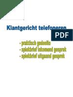 Klantgericht Telefoneren Praktijk en Spiekbrief