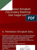 12. Peledakan Bongkah (Secondary Blasting)