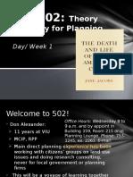 Plan 502 Week1