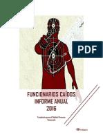 Informe  Funcionarios Caidos 2016- Venezuela
