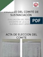 Proceso Del Comité de Sustanciación