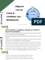 Configurar Una Red Lan en Linux & Combinar Con Windows X