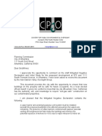Lenny Siegel letter to planning commission on vapor intrustion