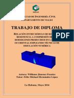 Tesis de WilRELACIÓN ENTRE MÓDULO DE ROTURA Y RESISTENCIA A COMPRESIÓN DE LOS HORMIGONES PRODUCIDOS EN LA ZONA OCCIDENTAL EMPLEANDO TÉCNICAS DE SIMULACIÓN NUMÉRICAliams Hernández Jímenez