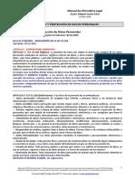 Manual de Informática Legal - 3. Privacidad y Proteccion de Datos Personales