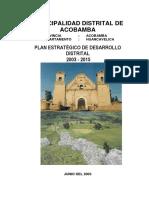 Plan Distrital Acobamba Rapa Perfil