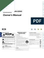 Denon PMA 520AE 720AE Owners Manual
