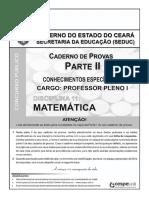 Cespe 2009 Seduc Ce Professor Matematica Prova